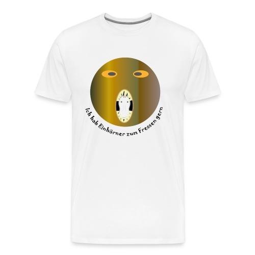 Einhorn zum Fressen - Männer Premium T-Shirt