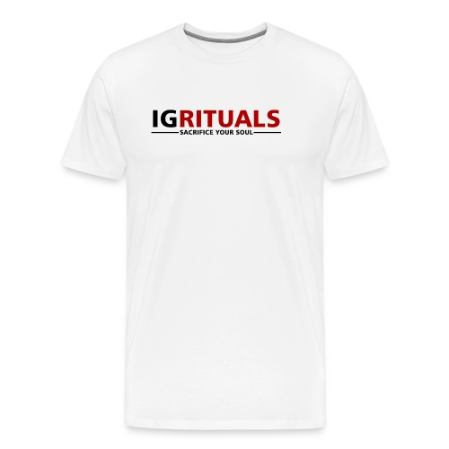 ig rituals text black and red - Men's Premium T-Shirt