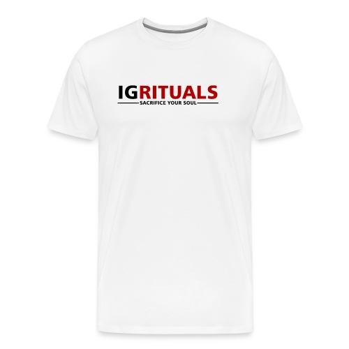 ig rituals text black and red - Men's Premium T-Shirt