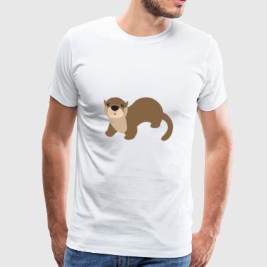 Otter söta djur Cool Marder Animals Gift - Premium-T-shirt herr
