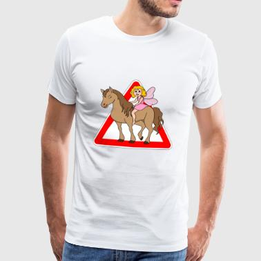Horse Elf Fairy tales krona - Premium-T-shirt herr