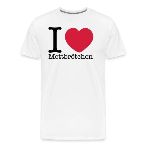 I Love Mettbrötchen - Männer Premium T-Shirt