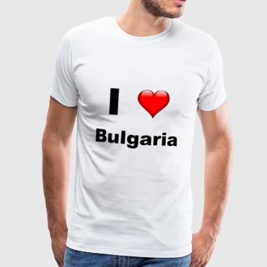Ik hou van Bulgarije - Mannen Premium T-shirt