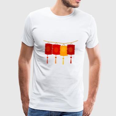 Lampion - Premium-T-shirt herr
