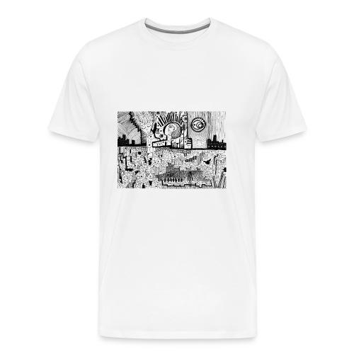 Delirio in bianco e nero - Maglietta Premium da uomo