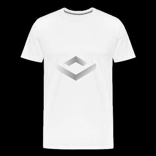 Black 3D Q-WHITE T-Shirt - Maglietta Premium da uomo