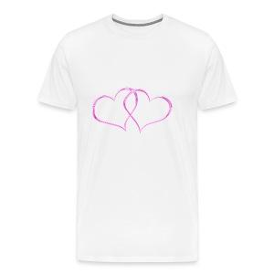 Herz rosa - Männer Premium T-Shirt