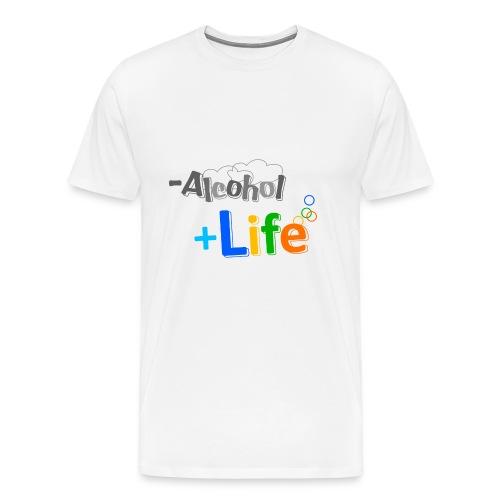 less alcool more life - Men's Premium T-Shirt
