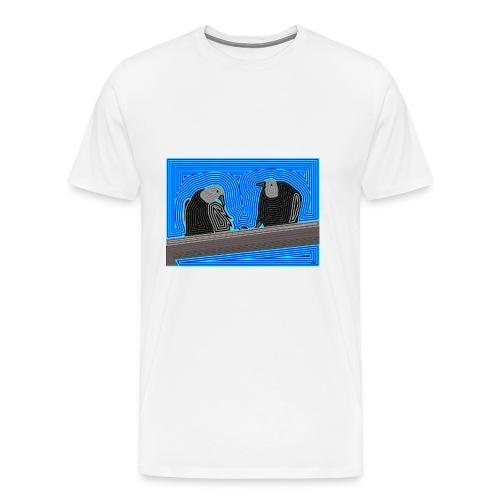Aves en lineas - Camiseta premium hombre