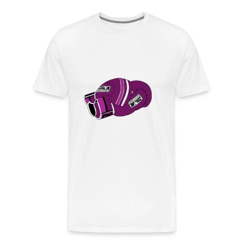 boxing gloves purple - Premium-T-shirt herr
