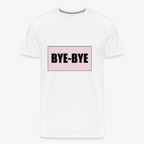 Logo BYE-BYE Rose et Noir - T-shirt Premium Homme