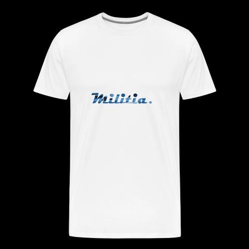 blue militia - Men's Premium T-Shirt