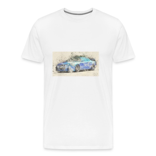 GTR R34 watercolors - Männer Premium T-Shirt