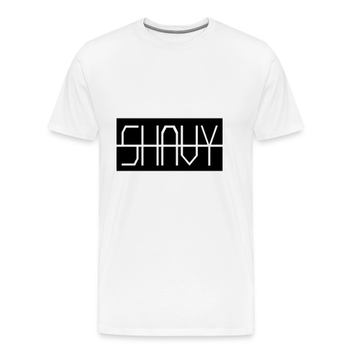 Shavy Rechteck Design black - Männer Premium T-Shirt