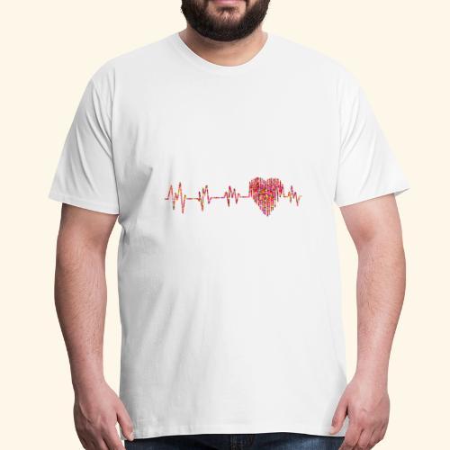 Herzklopfen - Männer Premium T-Shirt
