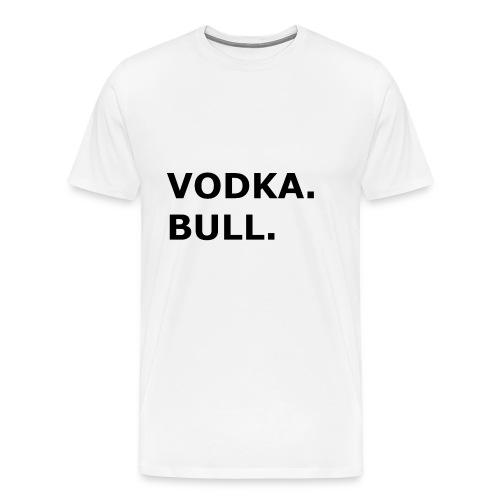 Vodka Bull Schwarz - Männer Premium T-Shirt