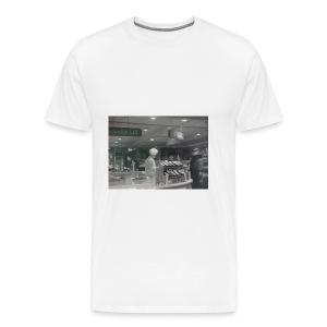 Een ijsjeskraam op een urban shirt - Mannen Premium T-shirt
