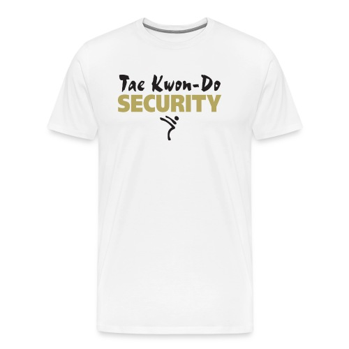 Taekwondo Security black & gold print - Men's Premium T-Shirt