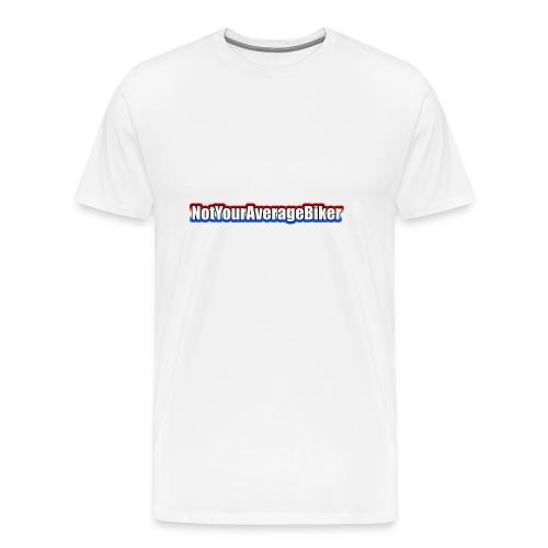 NotYourAverageBiker Hoodie SmallWhite FRONT logo - Mannen Premium T-shirt