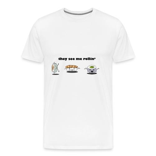 Sushi Emojis - they see me rolling - Männer Premium T-Shirt