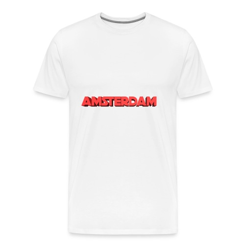 Amsterdam 3D - Mannen Premium T-shirt