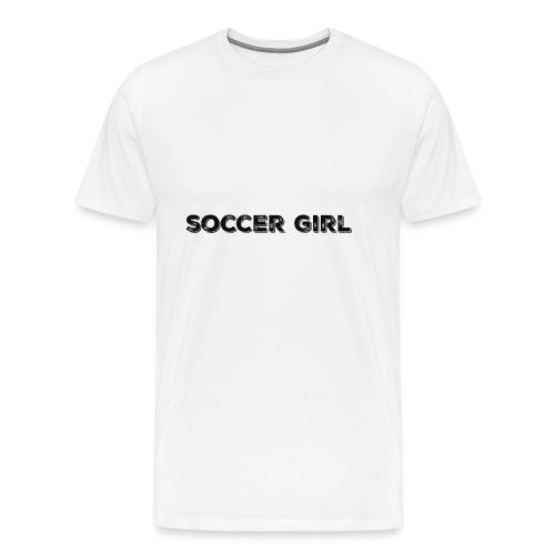 SOCCER GIRL LOGO SHIRT - Men's Premium T-Shirt