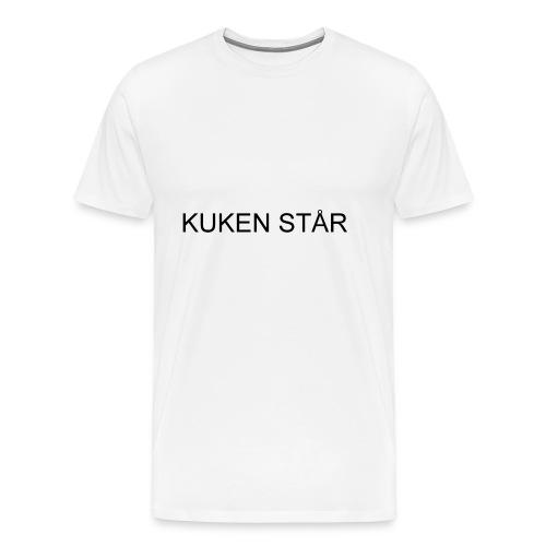 kuken står - Premium-T-shirt herr