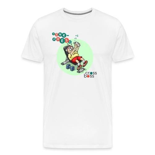 Tänkpress (ljus bakgrund) - Premium-T-shirt herr