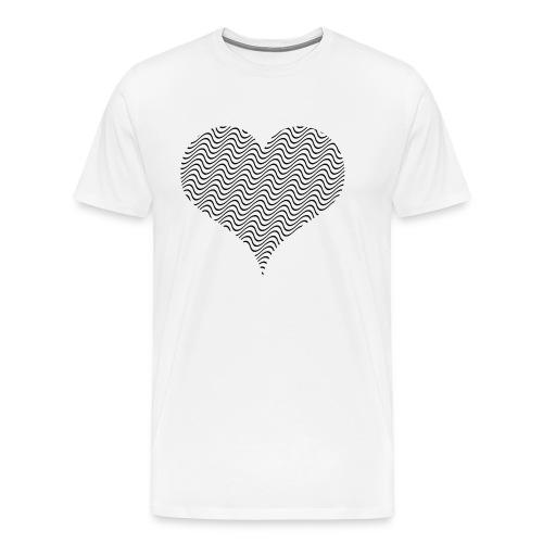 Wellen HERZ - Männer Premium T-Shirt