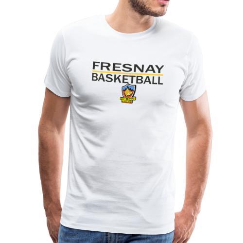 Fresnay basketball avec logo et trait jaune - T-shirt Premium Homme