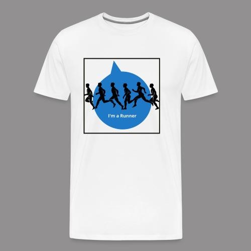 I m a runner - Mannen Premium T-shirt