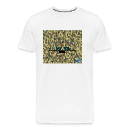 Sky.fol Camouflouge Logo - Männer Premium T-Shirt