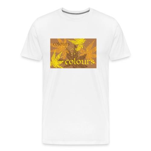 autumn theme - Koszulka męska Premium