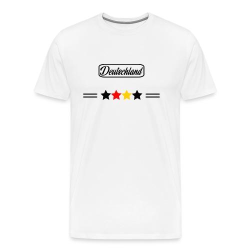 Fußball, Fan, Deutschland, Abzeichen, Weltmeister - Männer Premium T-Shirt