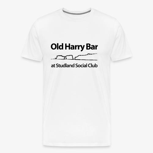 Old Harry Bar logo - black - Men's Premium T-Shirt