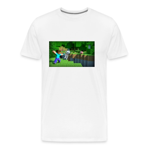 wallpapers minecraft hintergrundbilder 01 - Männer Premium T-Shirt