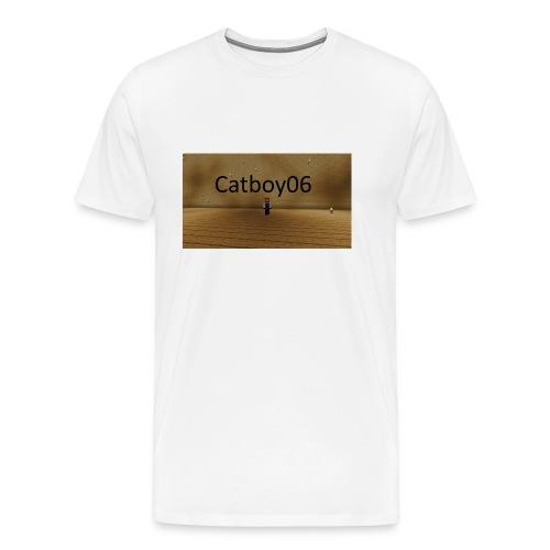 Catboy06 skin med skrift - Premium T-skjorte for menn