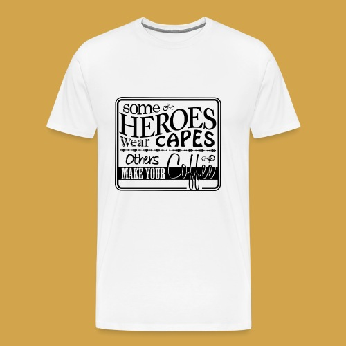 coffeeprint8F - Herre premium T-shirt