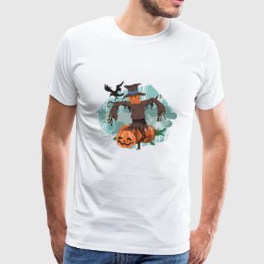 Halloween pumpa och man - Premium-T-shirt herr