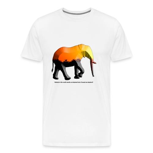 Afrika Elefant - Männer Premium T-Shirt