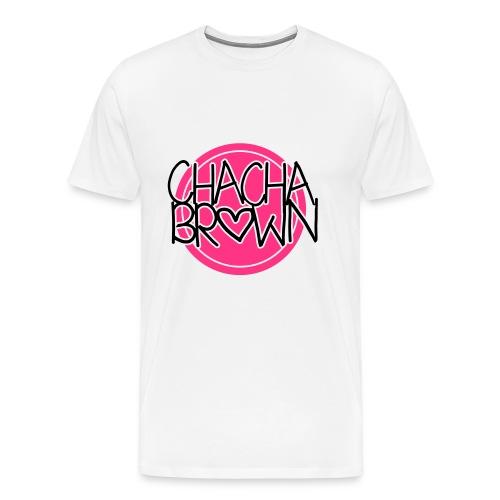 Chach Brown Big Logo - Mannen Premium T-shirt