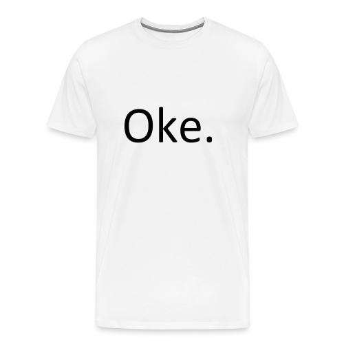 Oke-_T-shirt_PNG-png - Mannen Premium T-shirt
