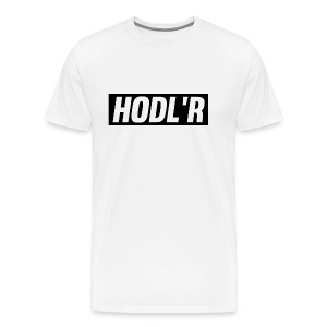 HODL'R - For the real crypto fans - Mannen Premium T-shirt