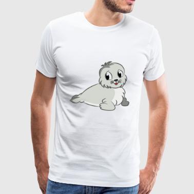 cría de foca - Camiseta premium hombre