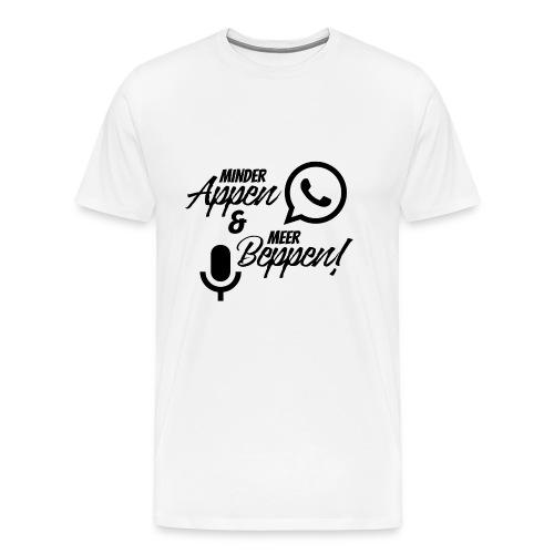 minder appen en meer beppen zwart - Mannen Premium T-shirt