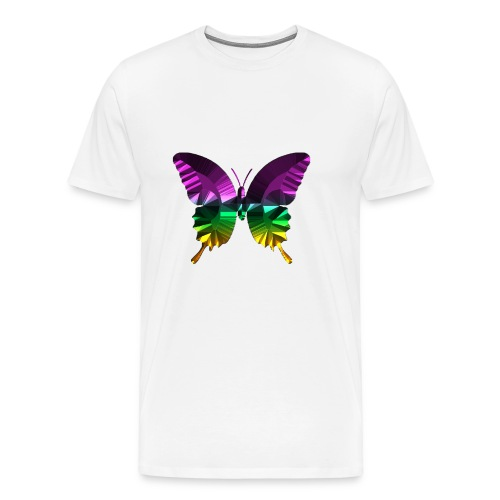 Schmetterling lila glanz - Männer Premium T-Shirt
