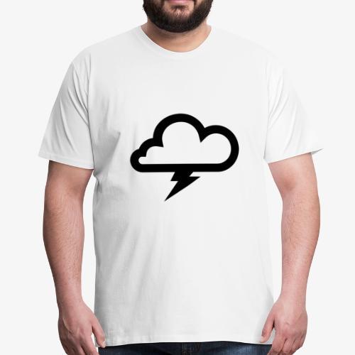 Wolke mit Blitz - Männer Premium T-Shirt