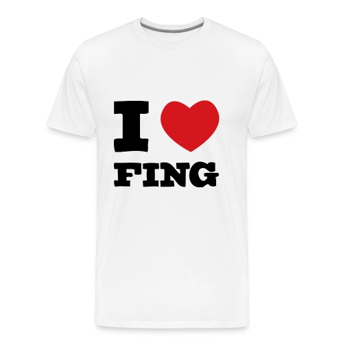 I Love FIng - Premium-T-shirt herr