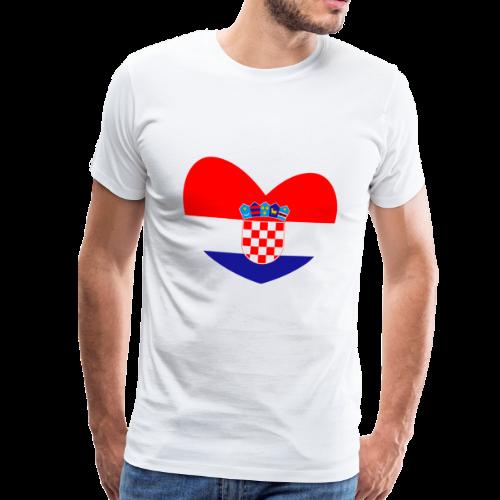 Kroation flagge, Kroation, Kroation Herz - Männer Premium T-Shirt