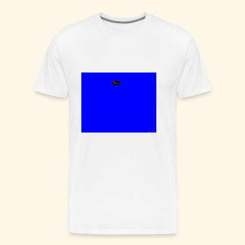 pucci blue background logo - Herre premium T-shirt